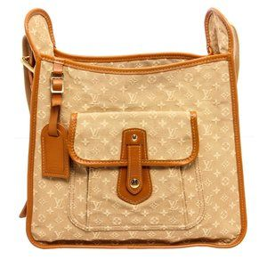 Louis Vuitton Beige Canvas Mini Lin Mary Kate Bag